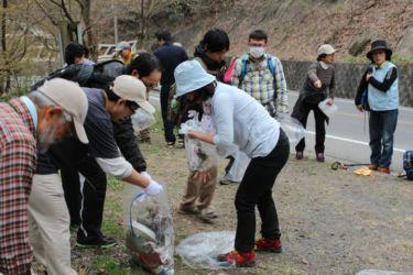 平成28年4月3日「大坊山」クリーンハイク (足利の山クリーンハイク合同)
